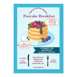 Invitación Fundraising del desayuno de la crepe