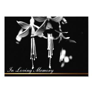 Invitación fúnebre 1 de la fotografía floral
