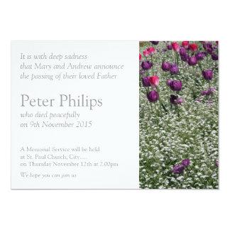 Invitación fúnebre conmemorativa de los tulipanes