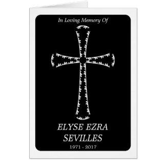 invitación fúnebre: cruz elegante tarjeta de felicitación