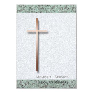 Invitación fúnebre de cobre de la cruz/de la invitación 12,7 x 17,8 cm