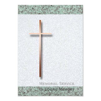Invitación fúnebre de la piedra 1 cruzado de cobre