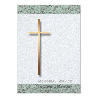 Invitación fúnebre de oro de la cruz/de la piedra invitación 12,7 x 17,8 cm