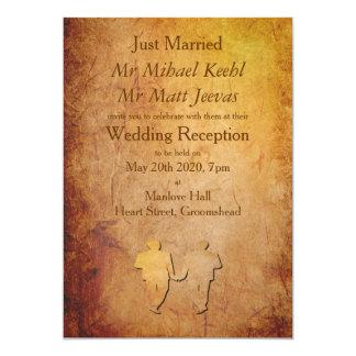 Invitación gay de papel de la invitación del boda