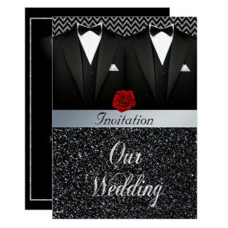 Invitación gay del boda del smoking
