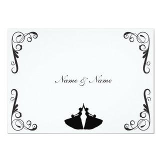 Invitación gay del boda - novia y novia