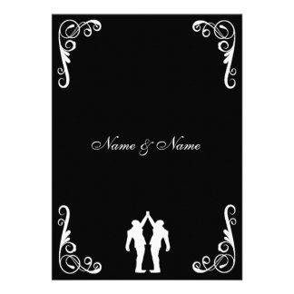 Invitación gay del boda - novio y novio