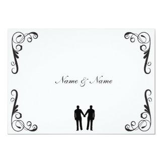 Invitación gay del novio y del boda del novio