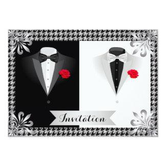 Invitación gay elegante del boda con los smokinges