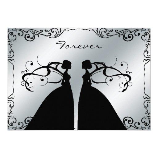 Invitación gay lesbiana elegante del boda
