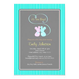 Invitación gemela de la fiesta de bienvenida al invitación 12,7 x 17,8 cm