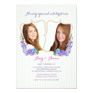 Invitación gemela de la foto del marco
