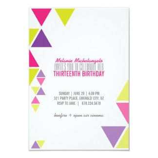 invitación GEOMÉTRICA brillante del cumpleaños