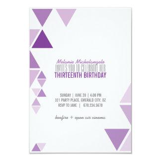 invitación GEOMÉTRICA del cumpleaños del ombre