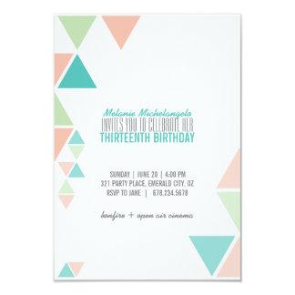 invitación GEOMÉTRICA del cumpleaños del trullo de