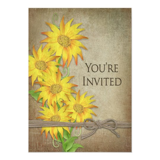 INVITACIÓN - GIRASOLES - BROWN TEXTURIZADO