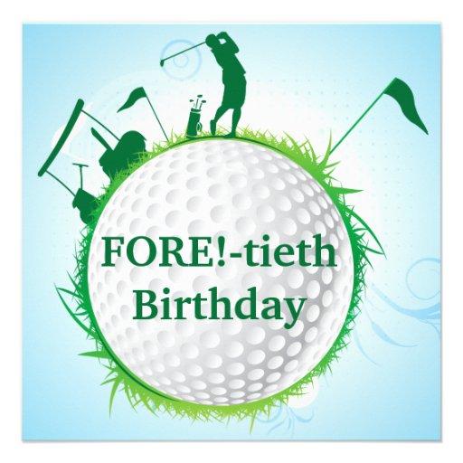 Invitación Golfing del cumpleaños de las mujeres 4