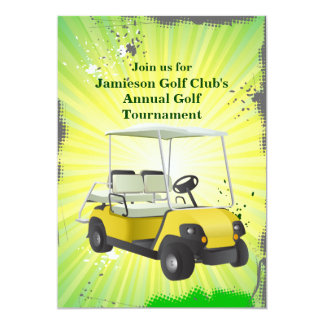 Invitación Golfing del torneo del carro de golf Invitación 12,7 X 17,8 Cm