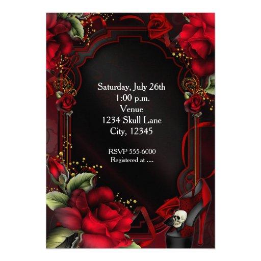 Invitación gótica de la fiesta de cumpleaños del
