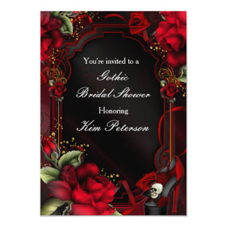 Invitación gótica de la fiesta de cumpleaños del invitación 12,7 x 17,8 cm