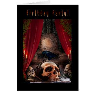 Invitación gótica de la fiesta de cumpleaños - tarjeta de felicitación