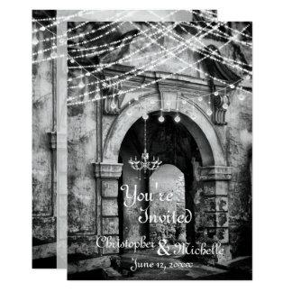 Invitación gótica del boda de la arcada de las