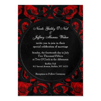Invitación gótica del boda del Victorian de los