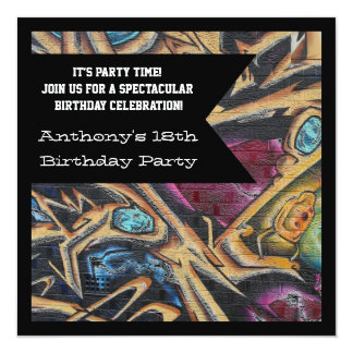 Invitación gótica del cumpleaños del Web de la Invitación 13,3 Cm X 13,3cm