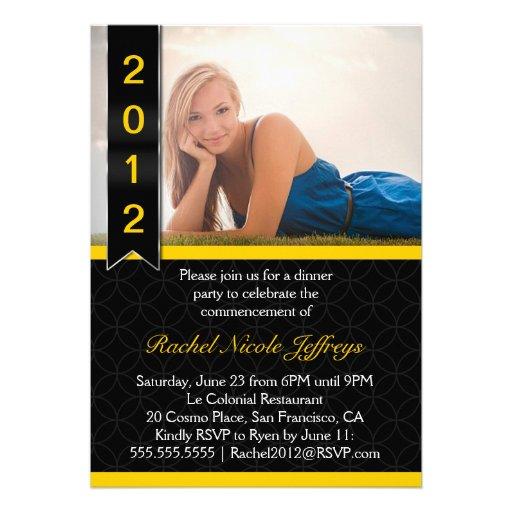 Invitación graduada 2012 de la graduación de la fo