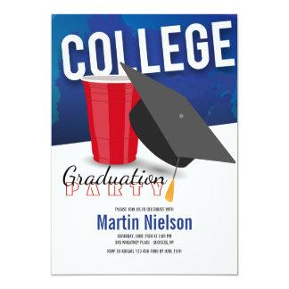 Invitación graduada de la universidad