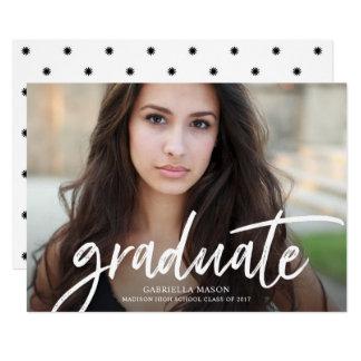 Invitación graduada manuscrita de la graduación