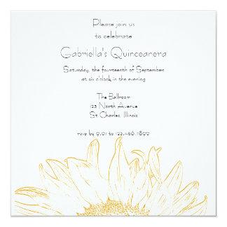 Invitación gráfica de Quinceanera del girasol