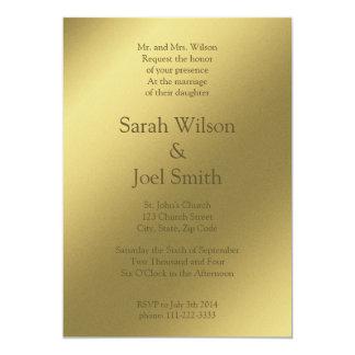 Invitación gráfica del boda del oro