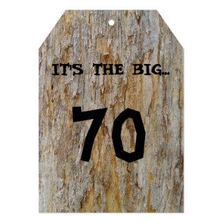 Invitación grande de 70 cumpleaños