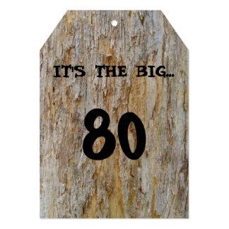 Invitación grande de 80 cumpleaños
