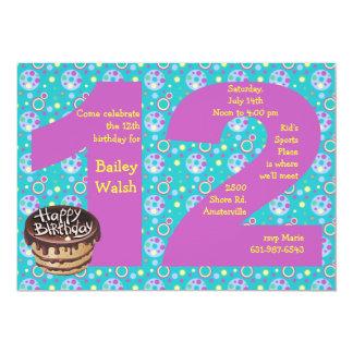 Invitación grande de la fiesta de cumpleaños 12 invitación 12,7 x 17,8 cm