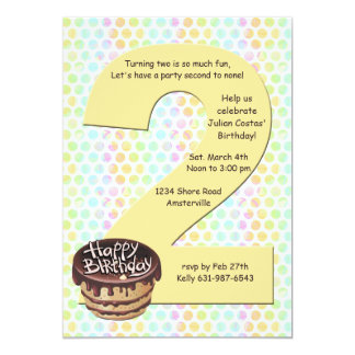 Invitación grande de la fiesta de cumpleaños 2 invitación 12,7 x 17,8 cm