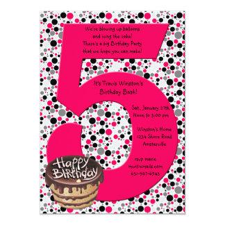 Invitación grande de la fiesta de cumpleaños 5