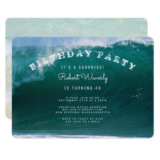 Invitación grande de la fiesta de cumpleaños de la invitación 12,7 x 17,8 cm