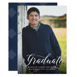 Tarjeta Invitación grande de la graduación de la imagen