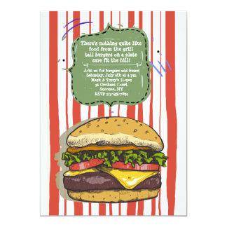 Invitación grande de la hamburguesa