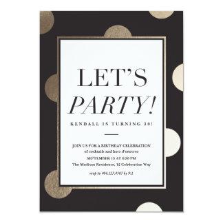 Invitación grande del fiesta de los puntos