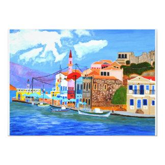 Invitación griega de la costa