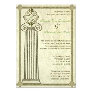 Invitación griega del boda invitación 12,7 x 17,8 cm
