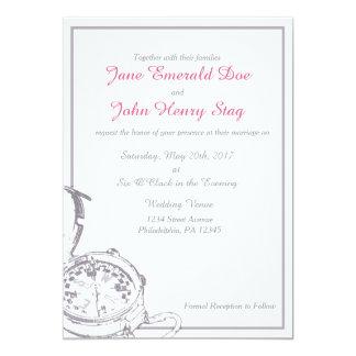 Invitación gris del boda del compás del viaje