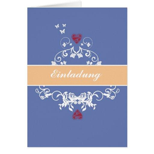 Invitación - hablas heart bicolor tarjeta