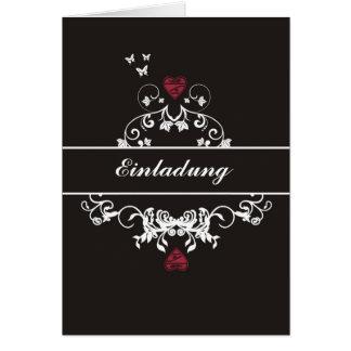 Invitación - hablas heart black tarjetas