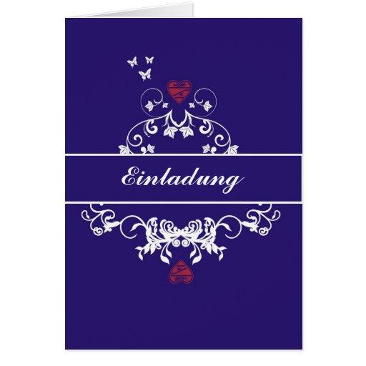 Invitación - hablas heart blue tarjeta