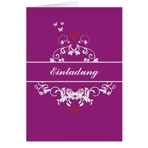 Invitación - hablas heart lila felicitaciones