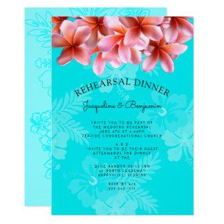 Invitación hawaiana de la cena del ensayo del